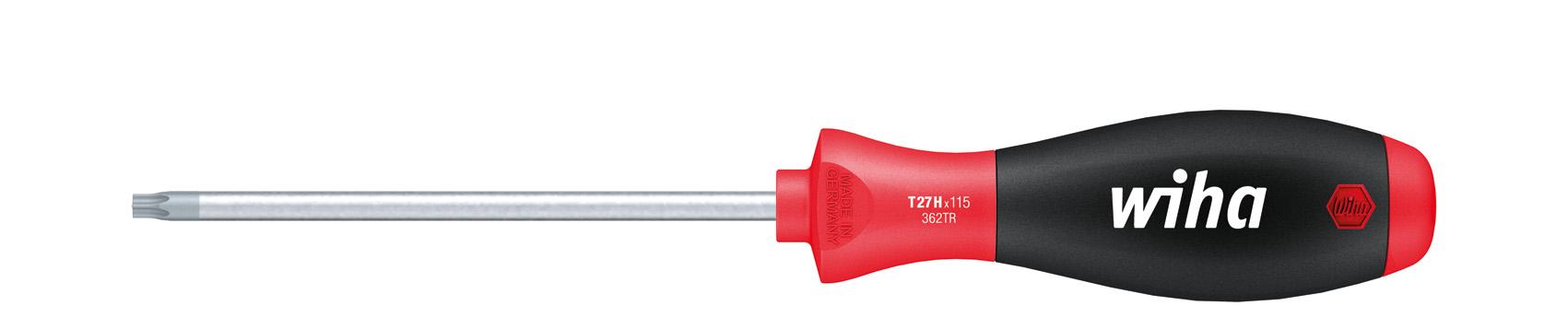 mit/Bohrung T15H x 300 mm 26458 Wiha Schraubendreher SoftFinish/® TORX/®/Tamper/Resistant/ mit Rundklinge